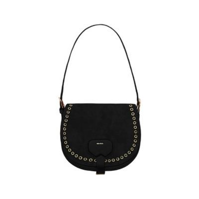 MIA BAG - Bisaccia Eyelet Leather e Suede con occhielli - Nero
