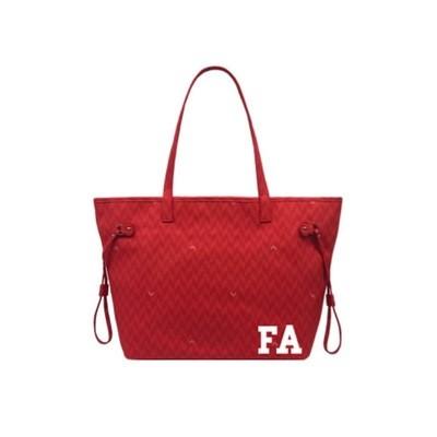 MIA BAG - Shopping Media Monogram Personalizzabile - Rosso