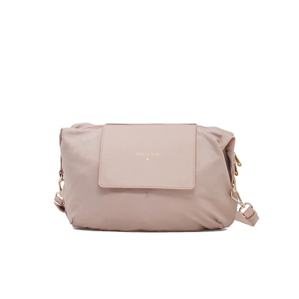 PATRIZIA PEPE - Borsa Mini Shopping Ripiegabile - Butterfly Rose Nylon