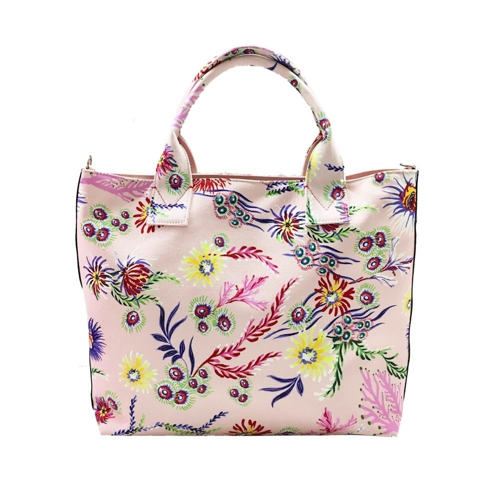 PINKO - Pinko Bag Capasanta Shopping Canvas Grande - Stampa Fiori