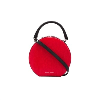 REBECCA MINKOFF - Circle Bag Python Crossbody - Red Snake