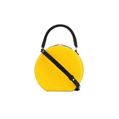 REBECCA MINKOFF - Circle Bag Python Crossbody - Yellow Snake
