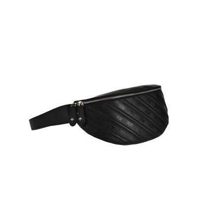 PINKO - Giungla Marsupio Caviar Monogram in pelle - Black