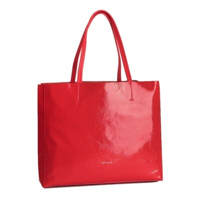 COCCINELLE - Delta Naplak Shopping Bag - Polish Red