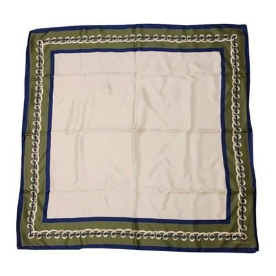 COCCINELLE - Ribbon Foulard in seta - Evergreen/Pivoine