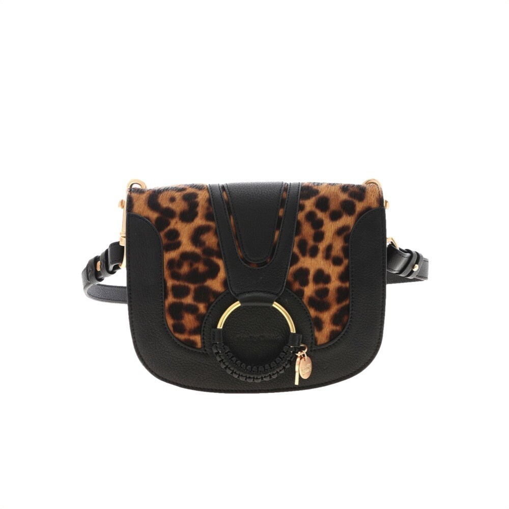 SEE BY CHLOÉ - Hana Animalier Small Crossbody Bag - Black
