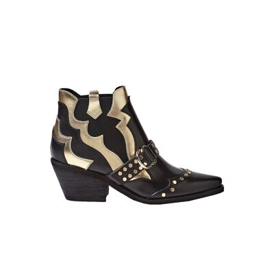 GUESS - Narri Stivaletto in pelle - Black