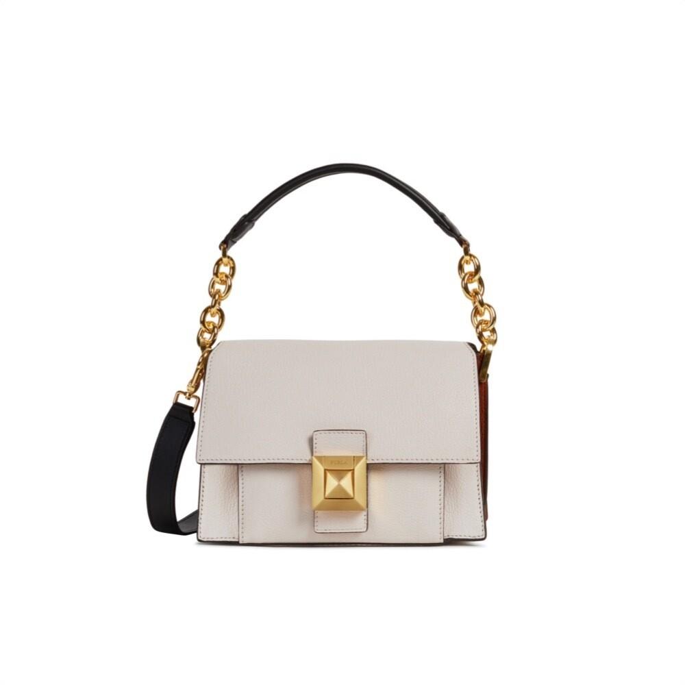 FURLA - Diva S Shoulder Bag - Lino/Nocciola