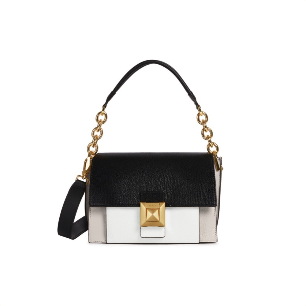 FURLA - Diva S Shoulder Bag - Lino/Onyx/Chalk