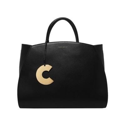 COCCINELLE - Concrete borsa grande in pelle - Noir