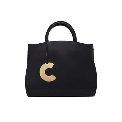 COCCINELLE - Concrete borsa media in pelle - Noir