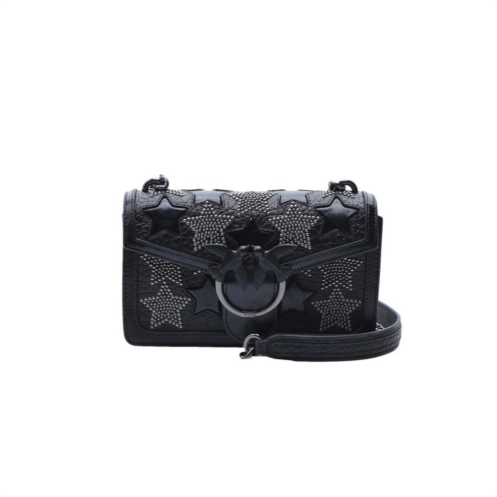 PINKO - Mini Love Bag Starry Sky con borchie - Black