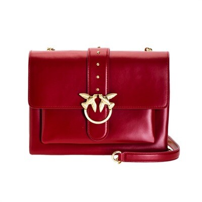 PINKO - Big Love Bag Soft Simply Grande - Dark Red