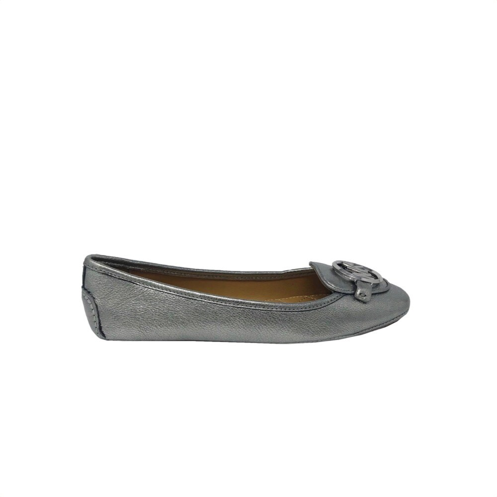 MICHAEL KORS - Lillie Ballerina in pelle - Sterling