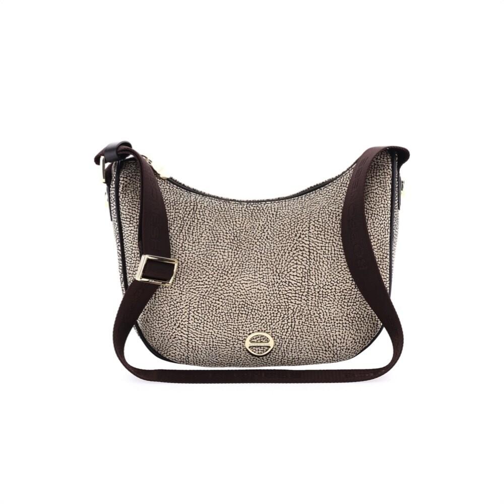 BORBONESE - Luna Bag Small in pelle Oplà - OP Natural