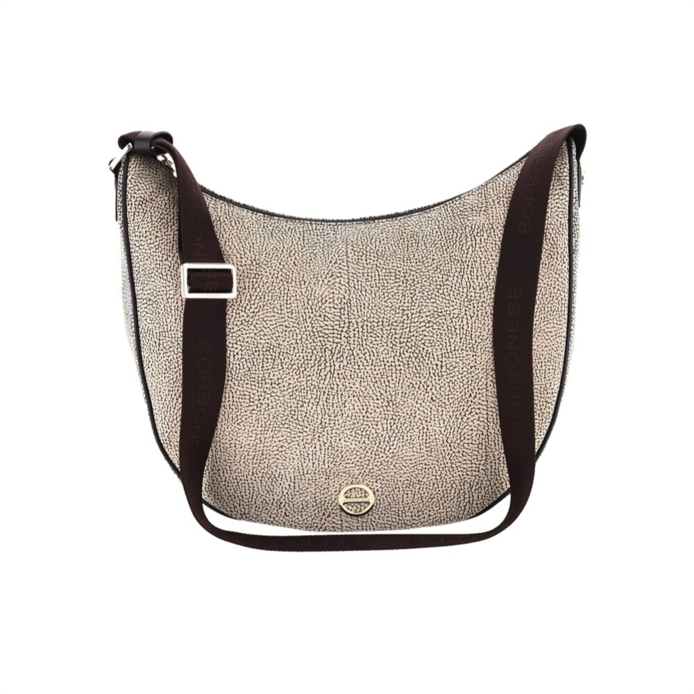 BORBONESE - Luna Bag Medium in pelle Oplà - OP Natural