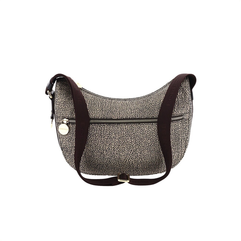 BORBONESE - Luna Bag Small in Jet OP con tasca - OP Classic/Brown