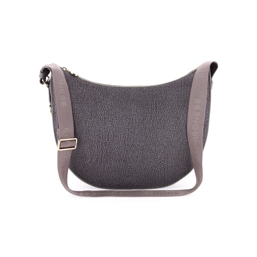 BORBONESE - Luna Bag Middle in Jet OP - Slate Grey