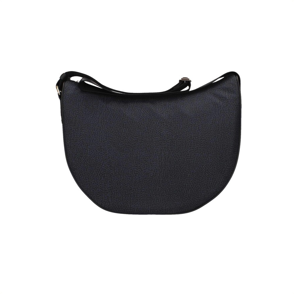 BORBONESE - Luna Bag Middle in Jet OP - Black