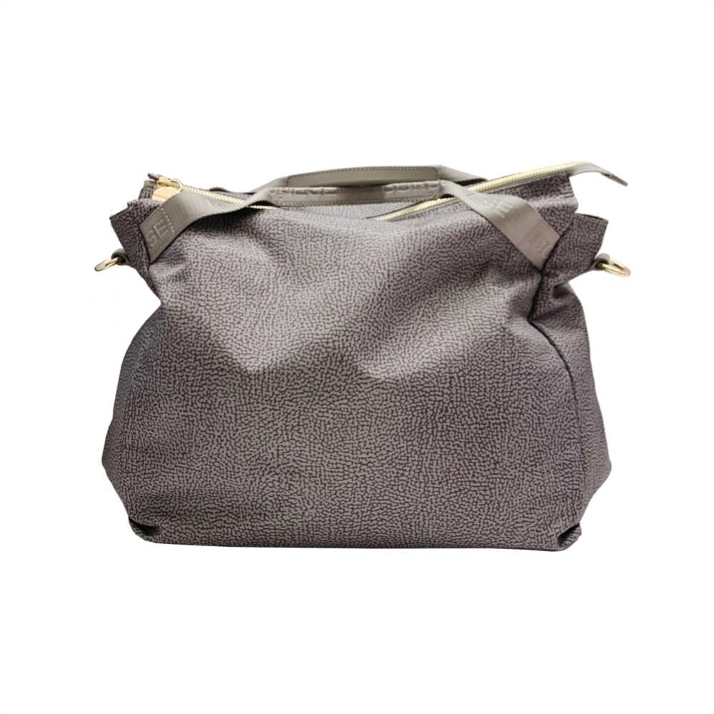 BORBONESE - Borsa a mano Large con tracolla - Slate Grey