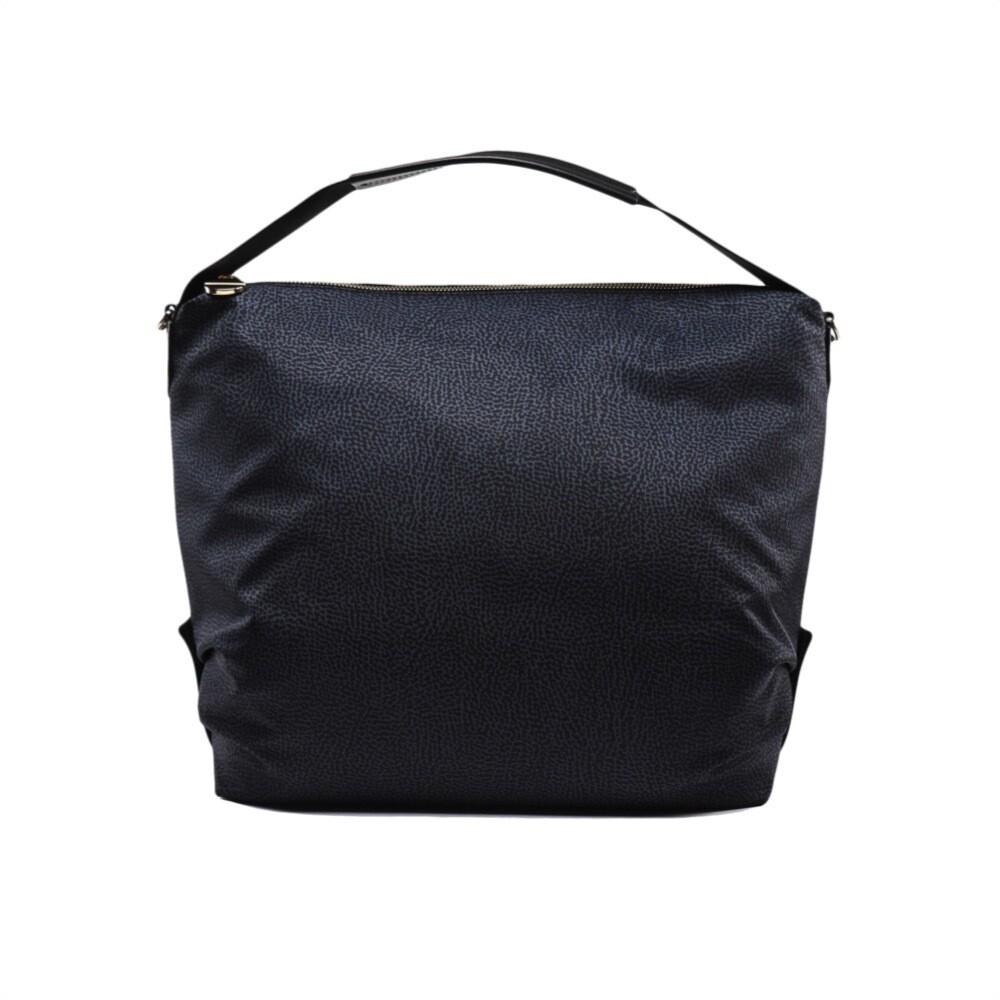 BORBONESE - Hobo Large con tracolla - Black