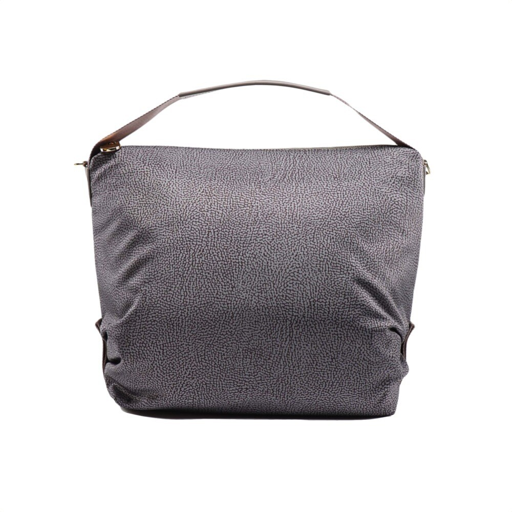 BORBONESE - Hobo Large con tracolla - Slate Grey