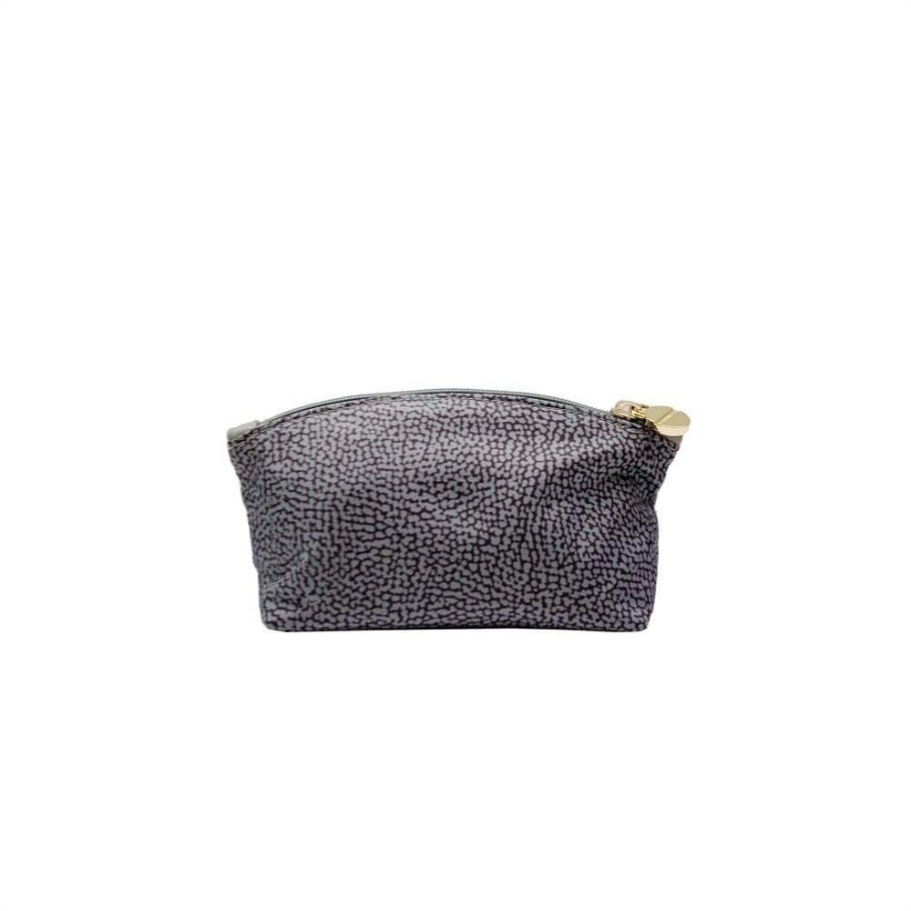 BORBONESE - Beauty Case Small in Jet OP - Slate Grey