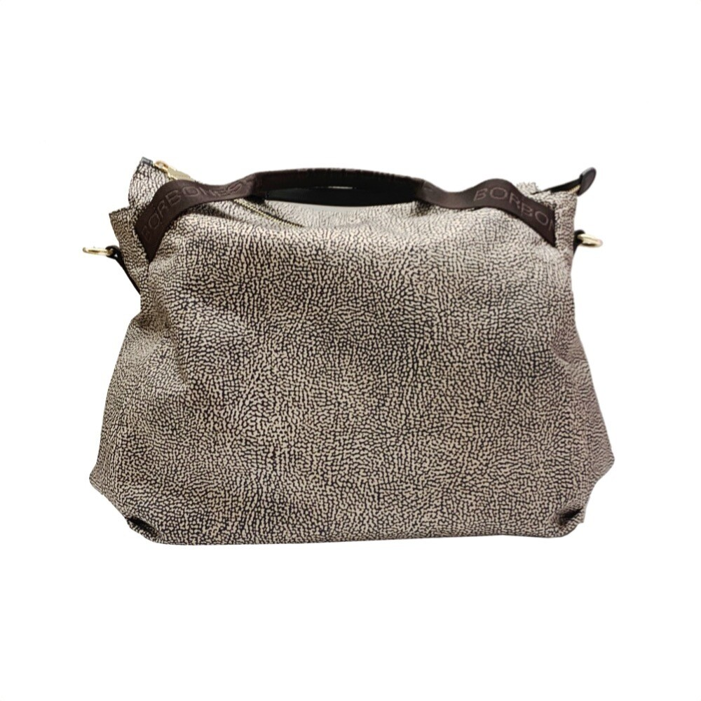 BORBONESE - Borsa a mano Large con tracolla - OP Classic/Brown