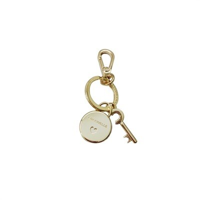 COCCINELLE - Lock Charm Portachiavi Basic Metal - Light Gold