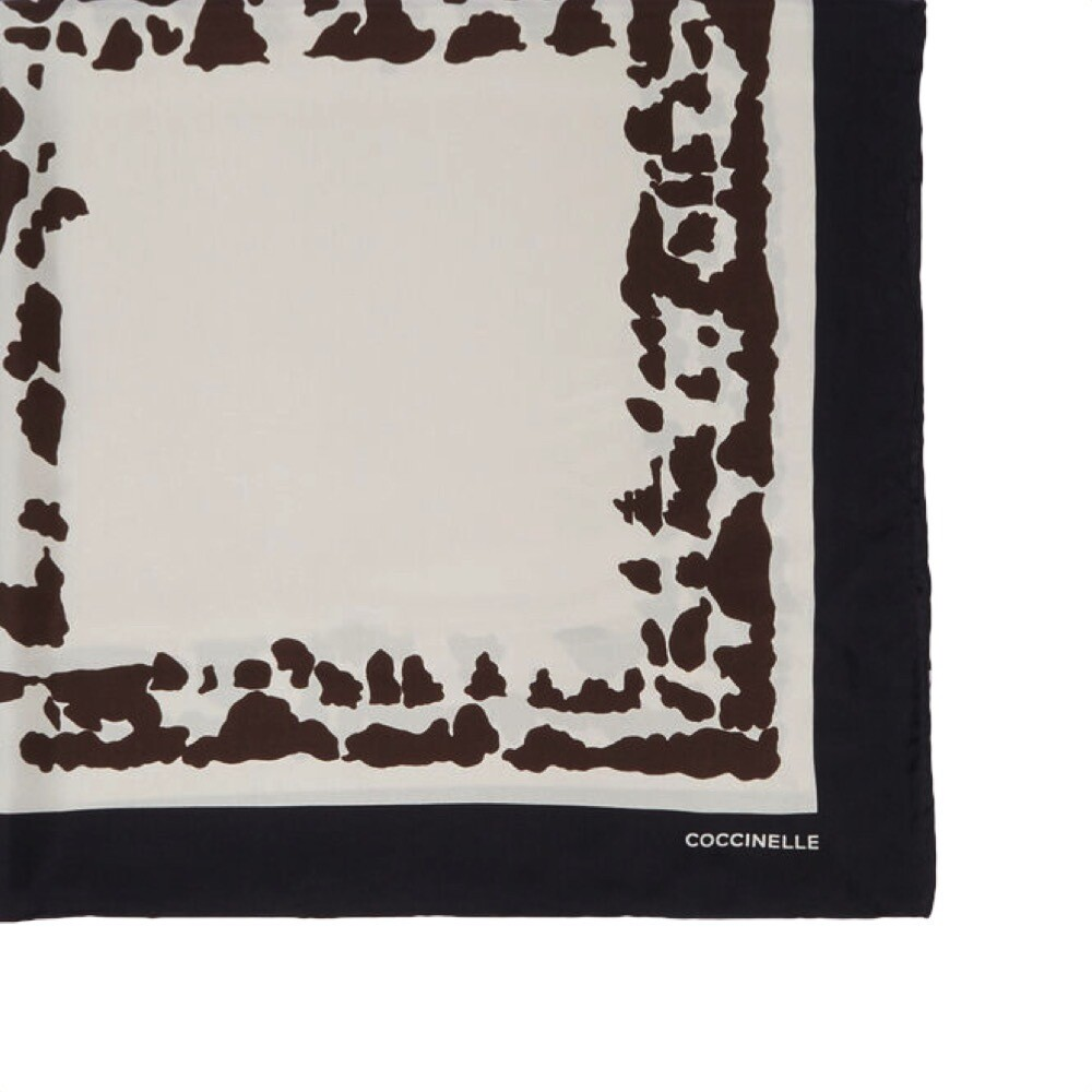 COCCINELLE - Animallier Print Foulard 90x90 - Multi Seashell