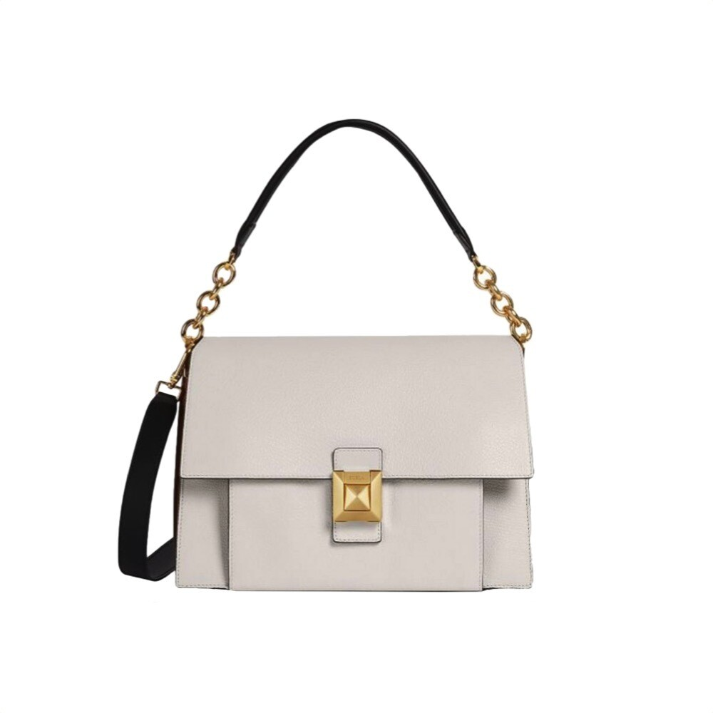 FURLA - Diva M Shoulder Bag - Lino/Nocciola