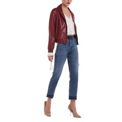 PATRIZIA PEPE - Jeans straight a vita alta - Fringe Edge Wash