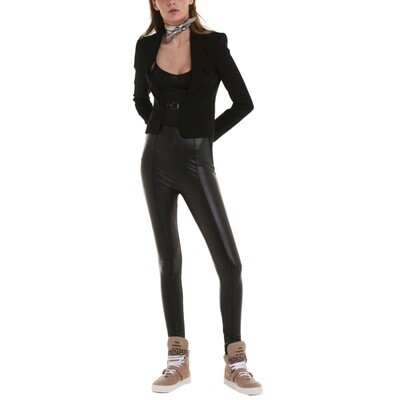 PATRIZIA PEPE - Leggings in pelle sintetica - Black