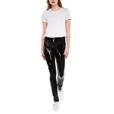 KARL LAGERFELD - Leggings Karl Verniciati - Black