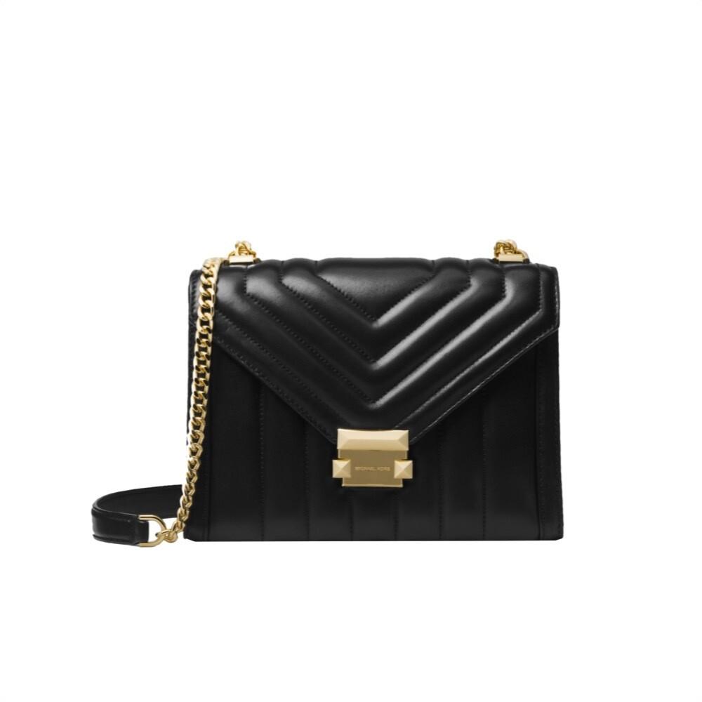 MICHAEL KORS - Whitney LG Shoulder Bag trapuntata - Black