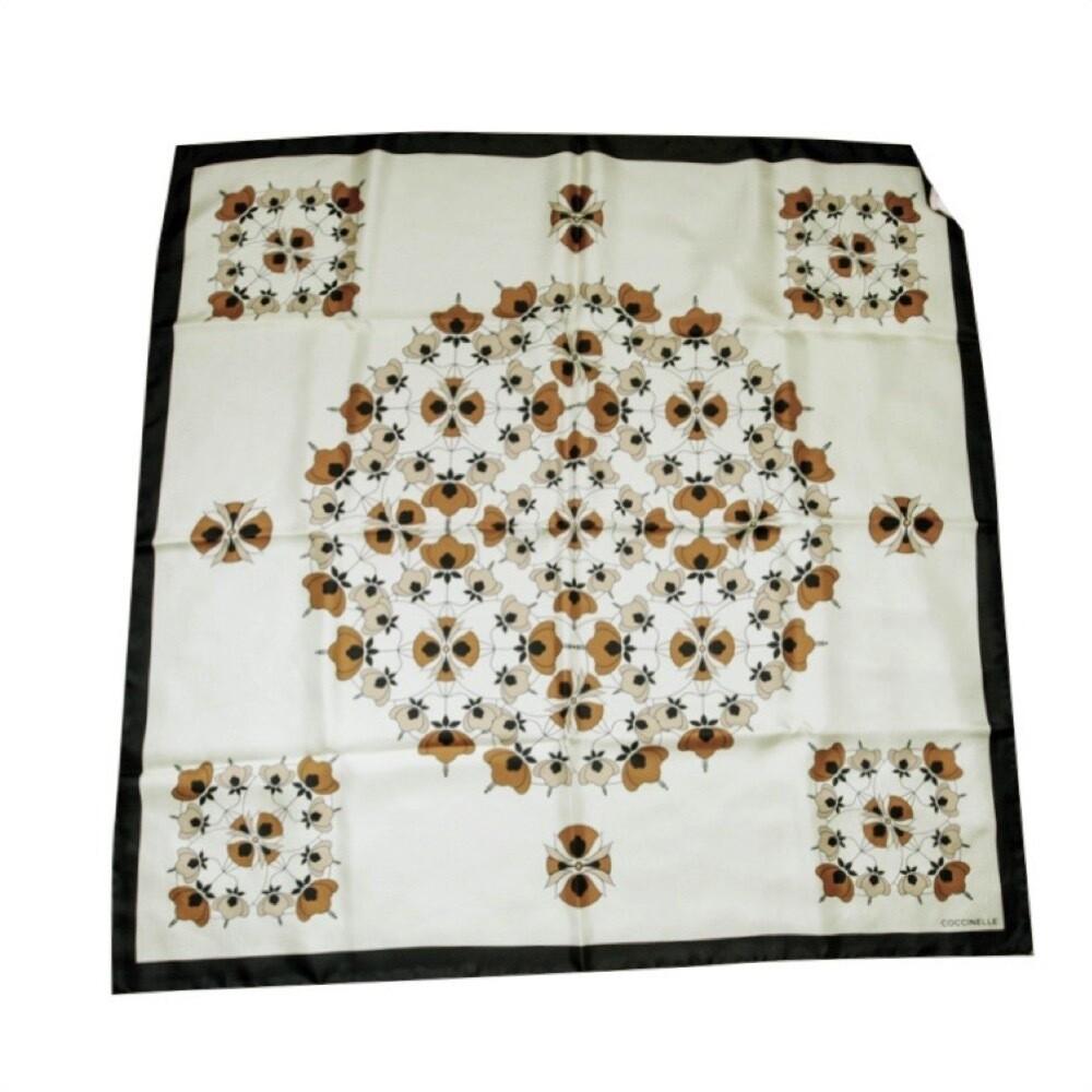 COCCINELLE - Arty Flower Print Foulard in seta - Multicolor Soap