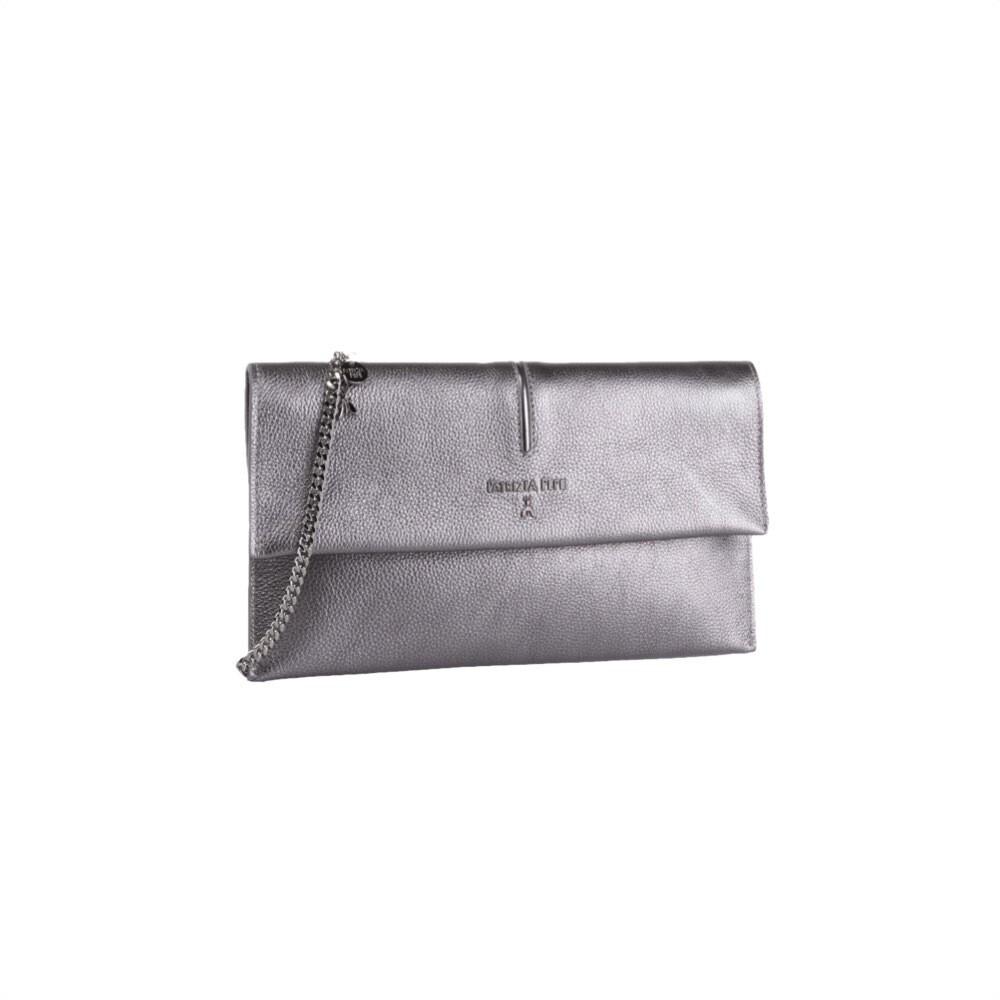 PATRIZIA PEPE - Pochette Piping - Winter Silver