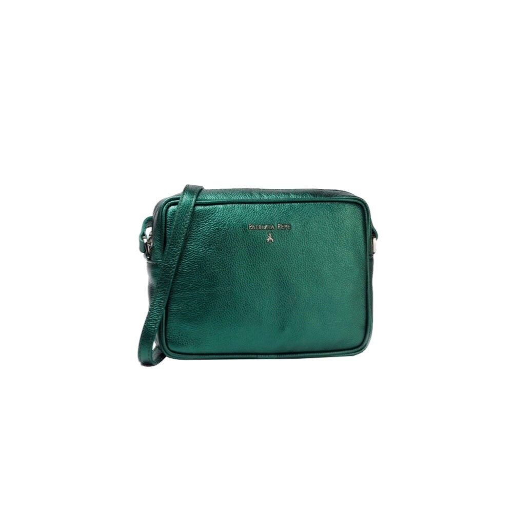PATRIZIA PEPE - Camera Bag in pelle - Galaxy Green