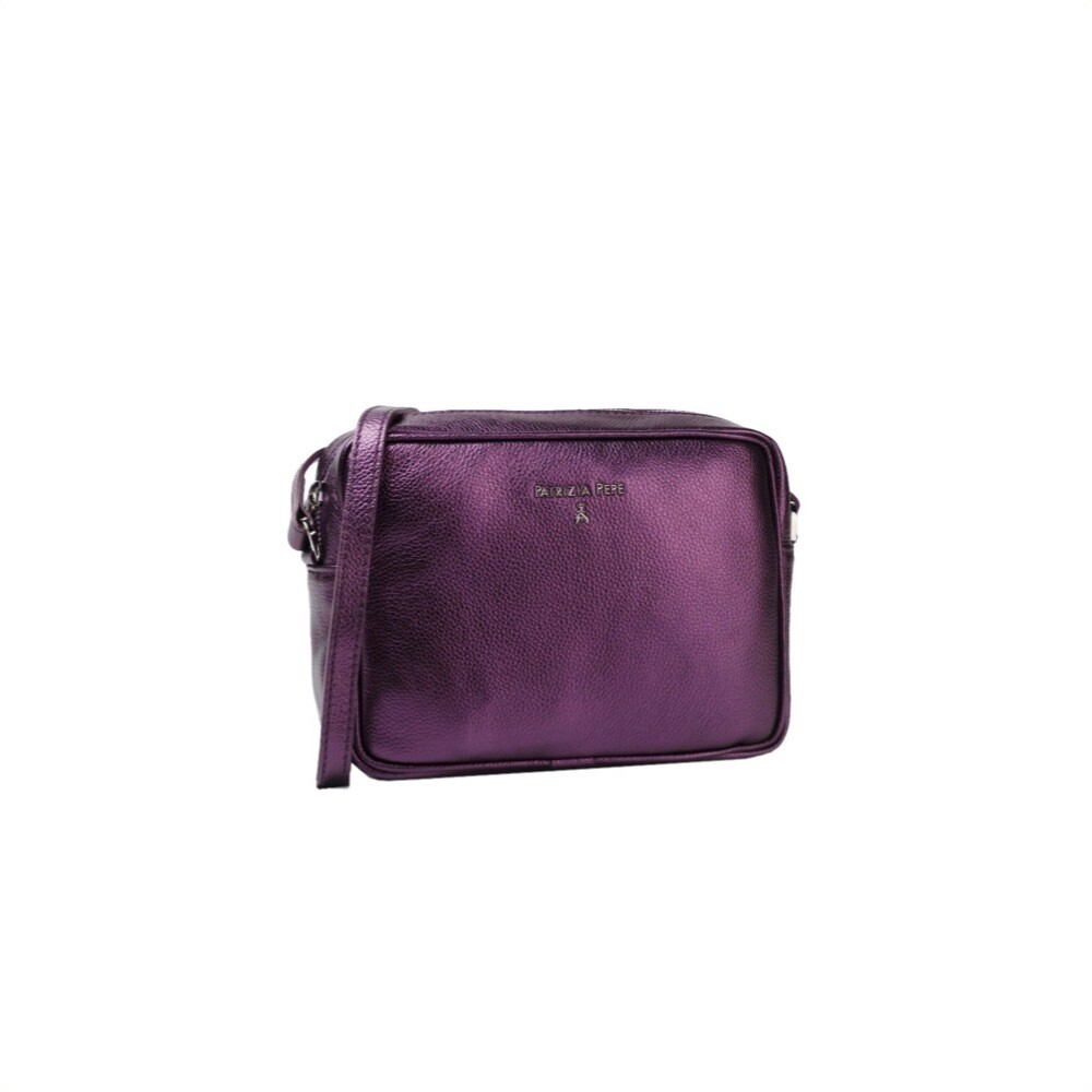 PATRIZIA PEPE - Camera Bag in pelle - Space Violet