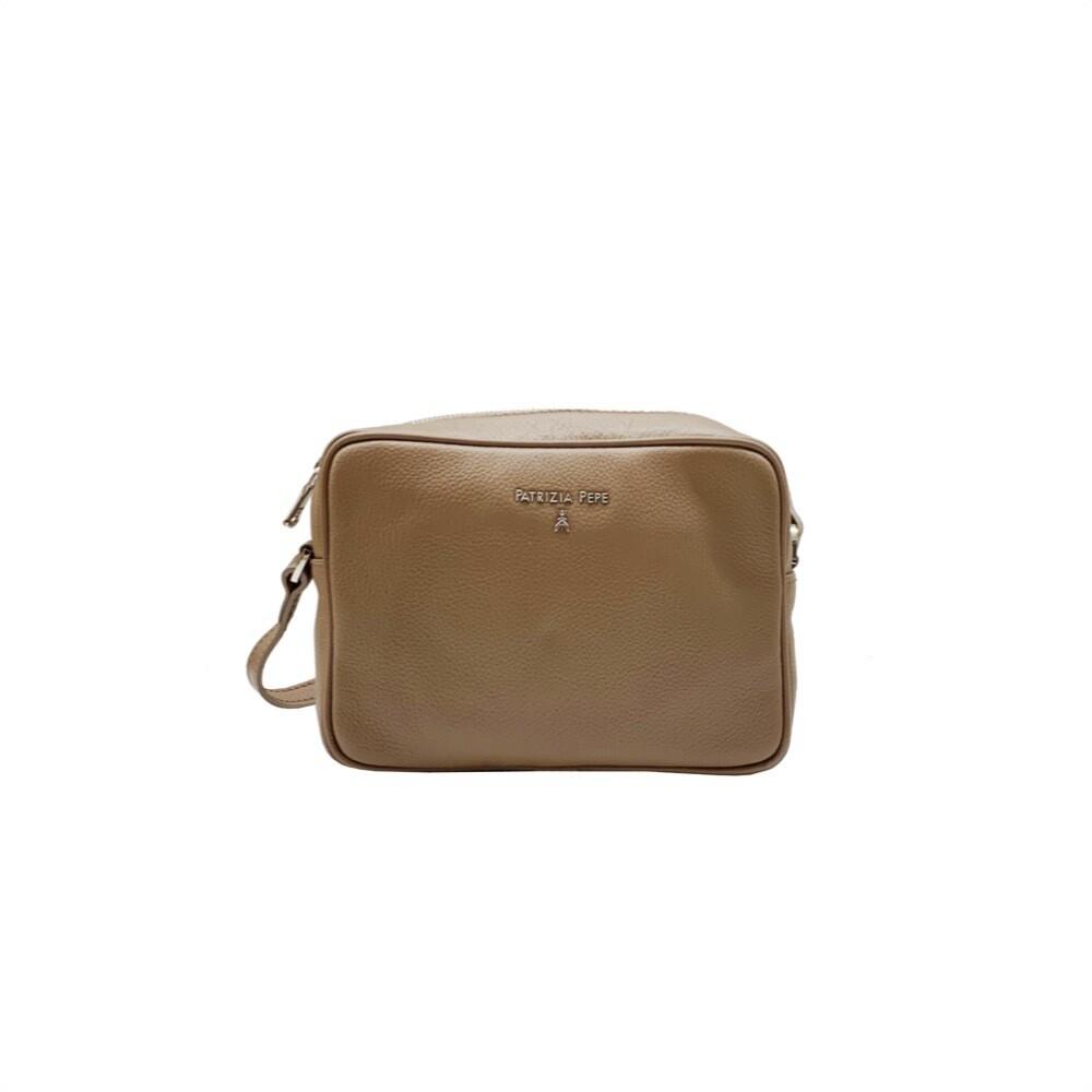 PATRIZIA PEPE - Camera Bag in pelle - New Taupe