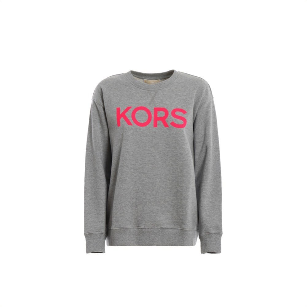 MICHAEL KORS - Felpa con stampa logo - Neon Pink