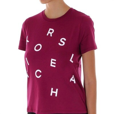 MICHAEL KORS - T-shirt Lettere - Garnet