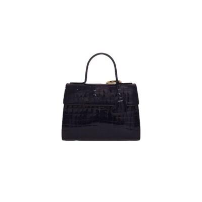MIA BAG - Doctor Bag Cocco Patent Personalizzabile - Blu