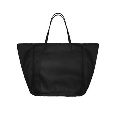 MIA BAG - Shopping Grande Ecopelliccia Reversibile Personalizzabile - Nero