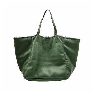 MIA BAG - Shopping Grande Ecopelliccia Reversibile Personalizzabile - Bosco