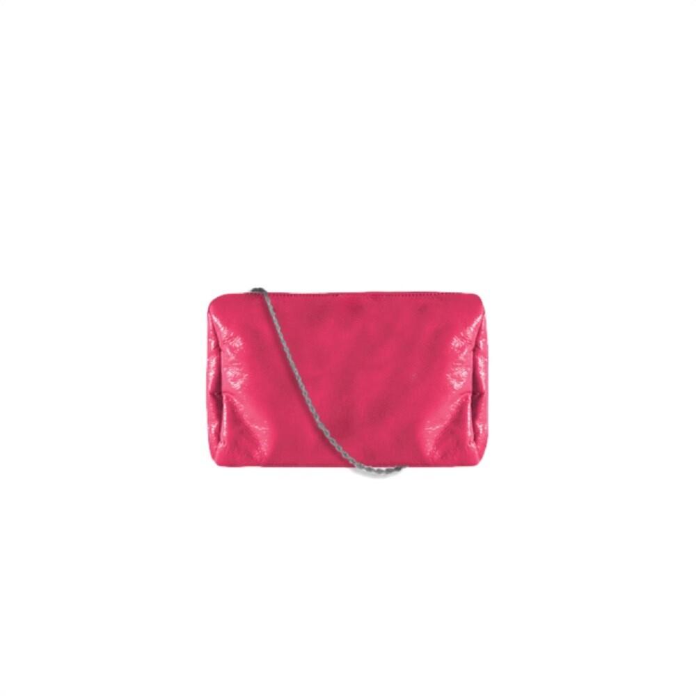 MIA BAG - Tracollina Patent Naplack Personalizzabile - Fuxia