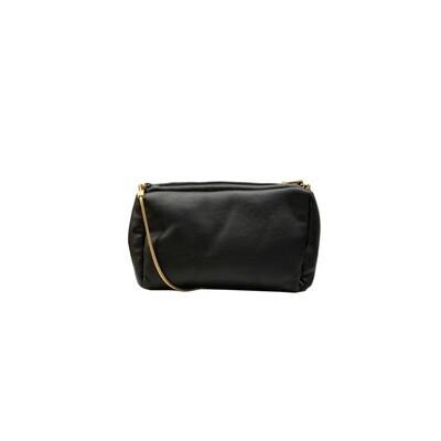 MIA BAG - Tracollina Ecopelliccia Reversibile Personalizzabile - Nero