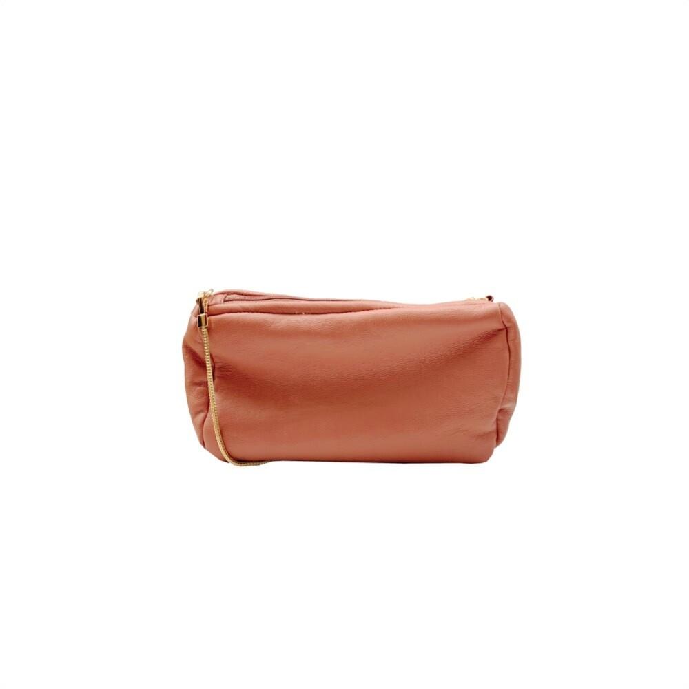MIA BAG - Tracollina Ecopelliccia Reversibile Personalizzabile - Cipria