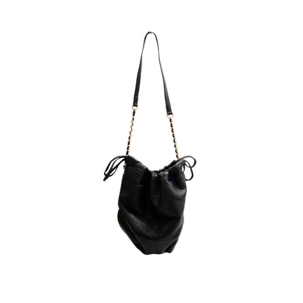 MIA BAG - Secchiello Ecopelliccia Reversibile Personalizzabile - Nero