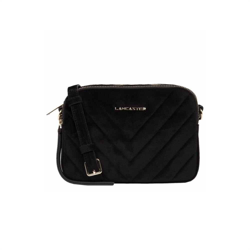 LANCASTER - Actual Velvet Couture Crossbody Bag - Noir